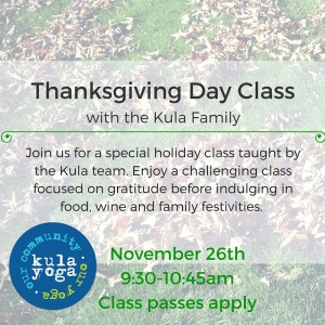 Special Thanksgiving Day Class